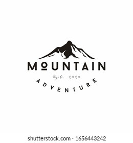 Landscape Hills / Mountain Peaks River Creek Minimalist logo design