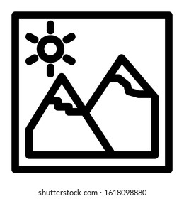 landscape icon isolated sign symbol vector illustration - high quality black style vector icons
