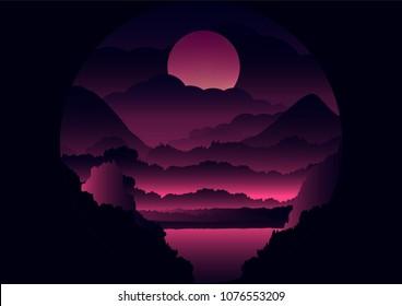 Landscape Illustration view