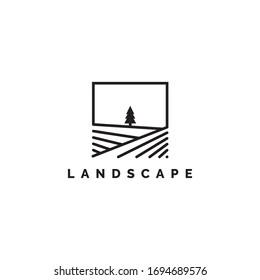 Landscape logo design illustration vector template