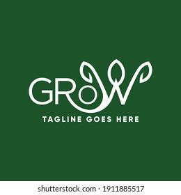 landscape logo, grow logo design idea