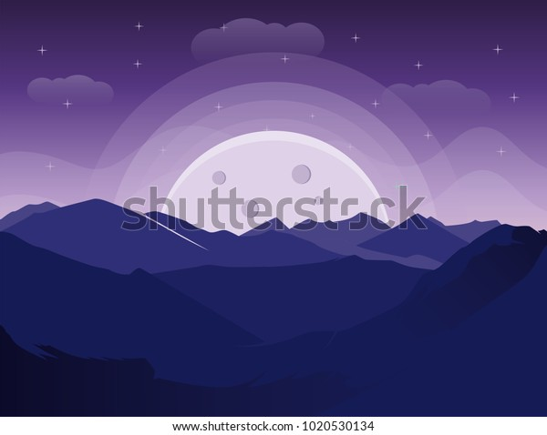 Vector De Stock Libre De Regalías Sobre Landscape Mountain