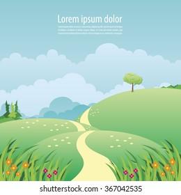 Landscape nature vector format
