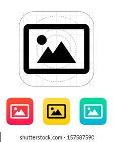 Landscape photo icon. Vector illustration.
