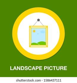 landscape photography icon - vector nature landscape symbol