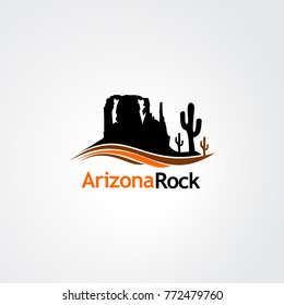 landscape rock logo vector for business