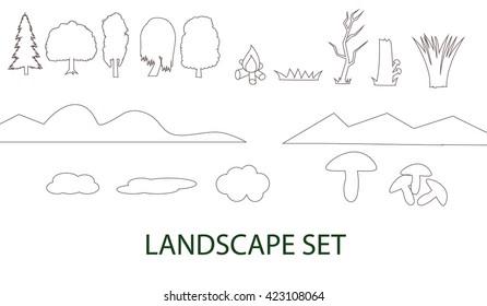 Landscape set