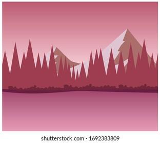 Landscape vector art done with vector format eps. Landscape illustration. nature vector art, nature illustration