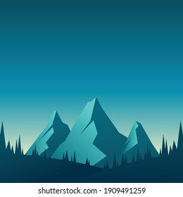 Landscape vector,Can be used for web, print and mobile