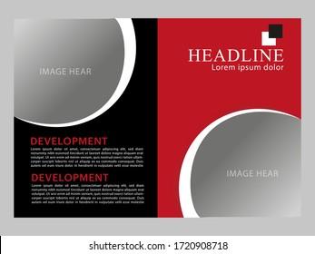 landscape wide flyer design template.