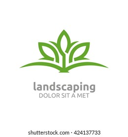 landscaping ecology design vector