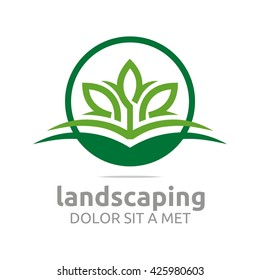 Landscaping green ecology design vector