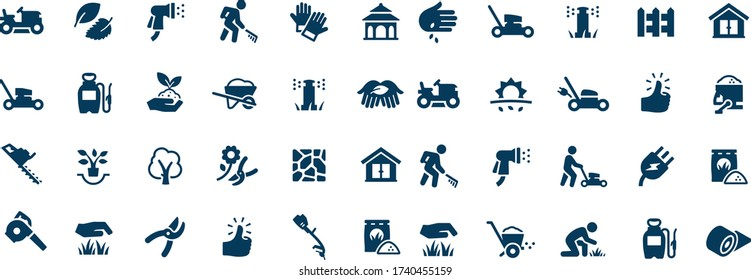 Landscaping Icons vector design black and white