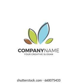 Landscaping logo vector illustration