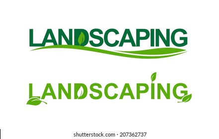 Landscaping representation in green