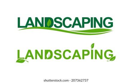 Landscaping representation in green