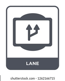 lane icon vector on white background, lane trendy filled icons from Traffic signs collection, lane simple element illustration