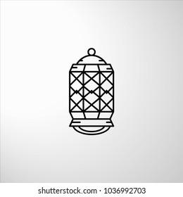 Lantern arab icon. Lantern with Arabic geometry style - Shutterstock ID 1036992703