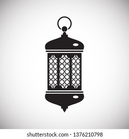 Lantern icon on background for graphic and web design. Simple vector sign. Internet concept symbol for website button or mobile app