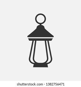 Lantern Icon. Ramadan Antique Lamp, Traditional Light Illustration As A Simple Vector Sign & Trendy Symbol for Design,  Websites, Presentation or Mobile Application.