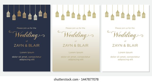 Muslim Wedding Cards Images Stock Photos Vectors Shutterstock