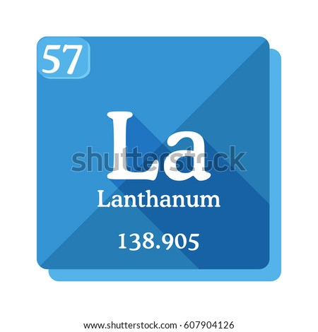 Lanthanum La Element Periodic Table Vector Stock Vector Royalty