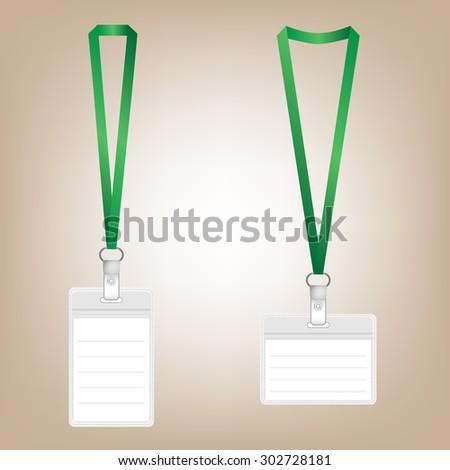 Lanyard Name Tag Holder And Badge Templates Vector