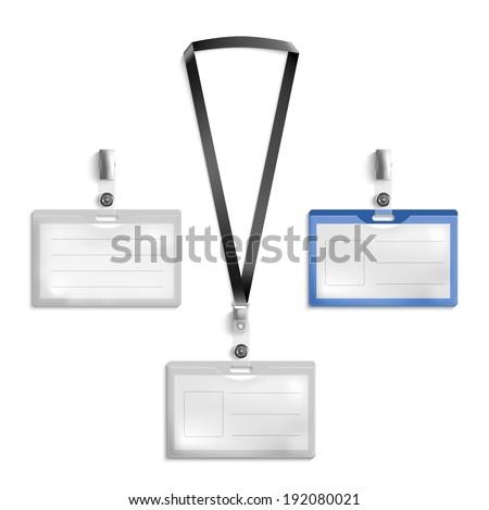Lanyard Name Tag Holder End Badge Templates Vector