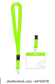 Lanyard with safety clip and name tag holder for ID