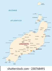 Lanzarote Mapa Images Stock Photos Vectors Shutterstock