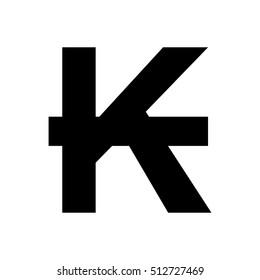 Lao Kip sign icon.Money symbol.
