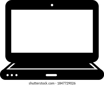 Lap top vector icon. Very useful icon of Laptop. Vector illustration.