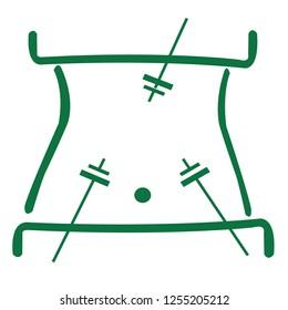 Laparoscopic surgery vector icon
