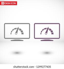 laptop acceleration icon vector