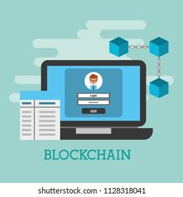laptop access internet login technology blockchain