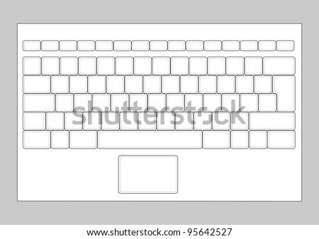 Fantastic Laptop Blank Keyboard Layout Computer Input Stock Vektorgrafik Wiring 101 Capemaxxcnl