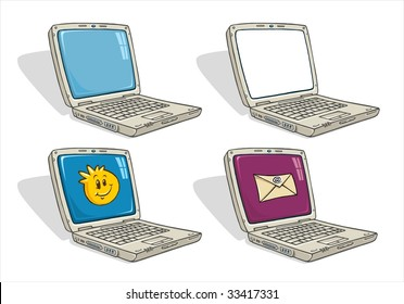 Laptop computer - Cartoon