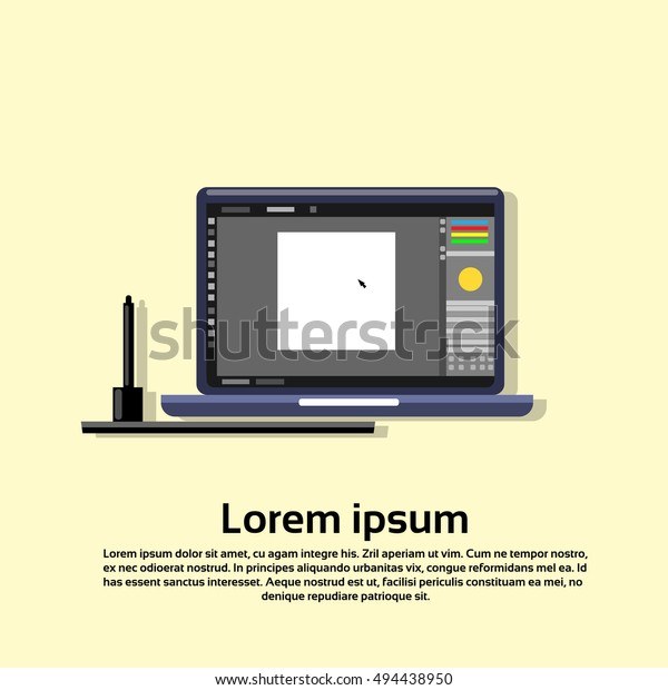 Swell Laptop Computer Paint Application Creative Design Stock Interior Design Ideas Pimpapslepicentreinfo