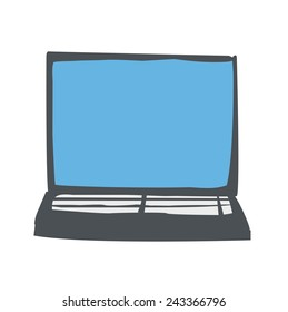 Laptop Computer Wireless Technology UI Icon Vector Concept