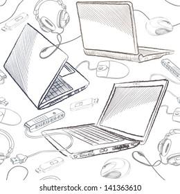 Imágenes, fotos de stock y vectores sobre Computer Keyboard Sketch