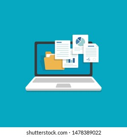 Laptop and document files,Files Attachment Email,Online communication