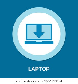laptop Download icon - download icon