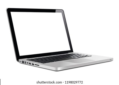 Laptop in a flat vector style