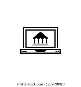 laptop goverment icon vector. laptop goverment vector design. sign design. flat style. Vector EPS 10