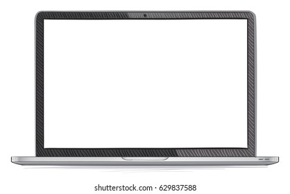 Laptop Hand Drawn Vector Illustration Isolated On White Background
