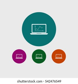 Laptop icon device diagram sign vector business illustration