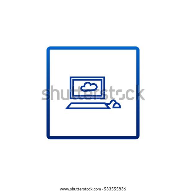 Laptop icon Flat.