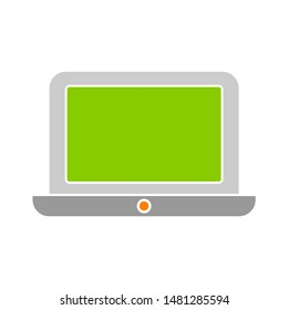 laptop icon. flat illustration of laptop vector icon. laptop sign symbol