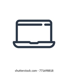 Laptop icon. Isolated mobile computer and laptop icon line style. Premium quality laptop icon vector symbol drawing concept for your logo web mobile app UI design.