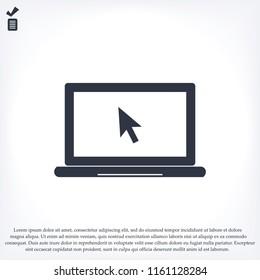 Laptop-Symbol, Stock-Vektorgrafik-Flachdesign-Stil